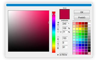 Izbira barv